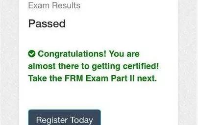 FRM考试成绩单