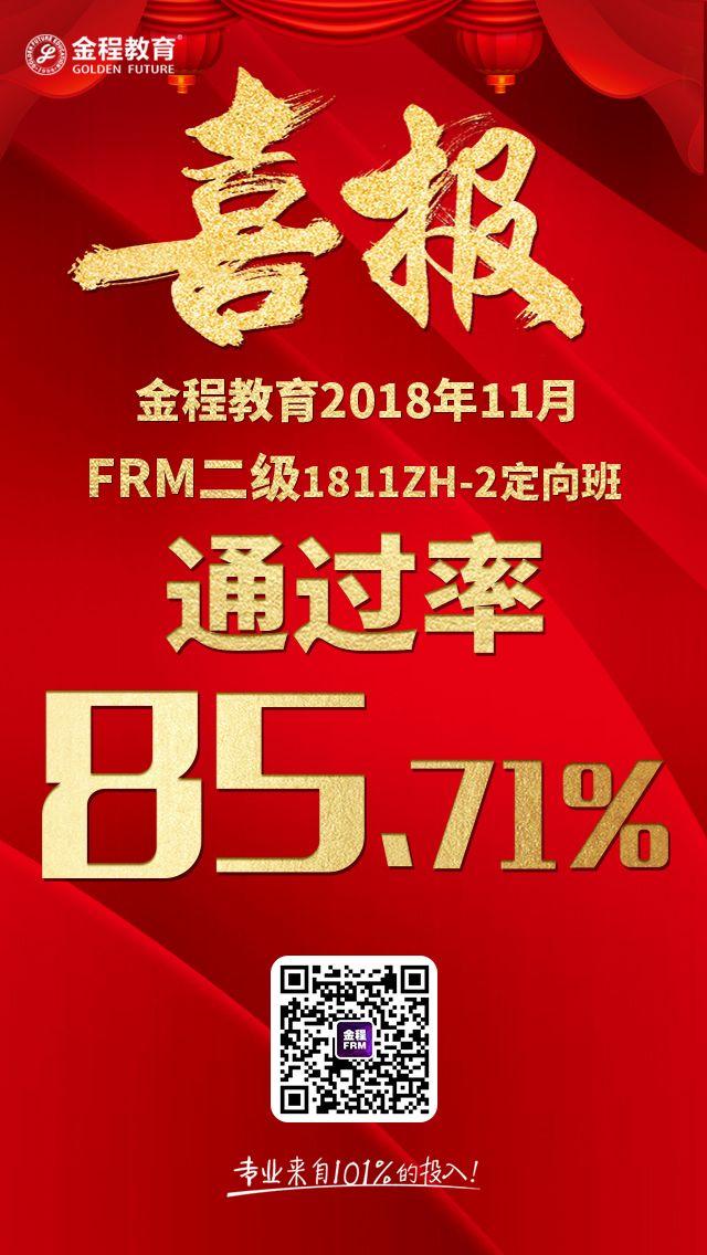FRM二级通过率