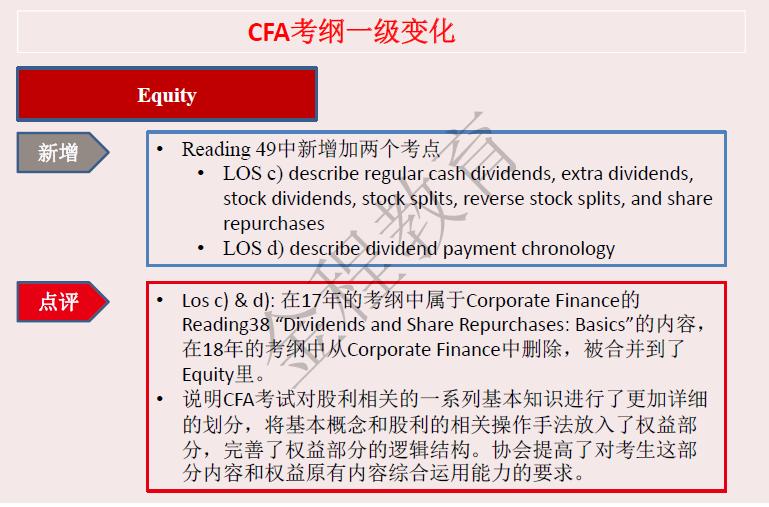 CFA考试大纲
