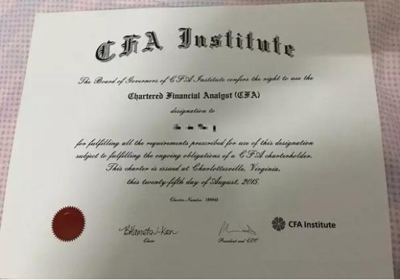 CFA中国区的证书是中文版还是英文版?