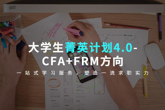 大学生菁英计划4.0-CFA+FRM方向