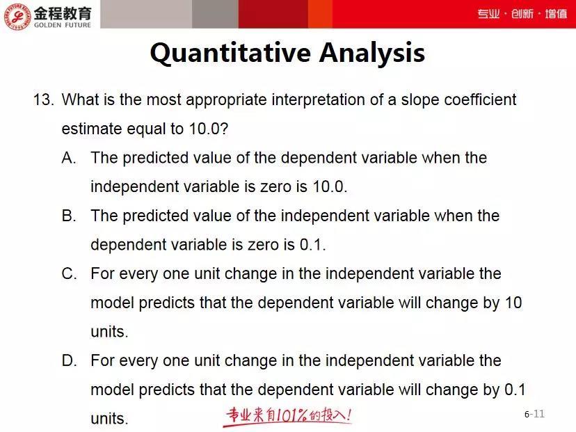 FRM每日一题定量分析7月14日