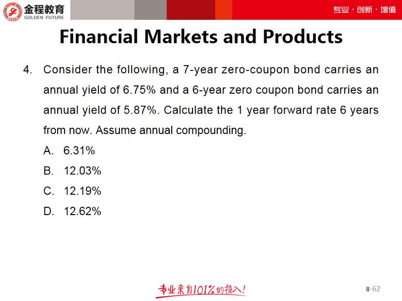 【FRM练习】金融市场与产品8月30日